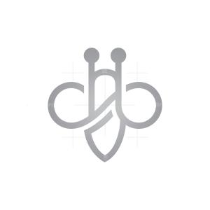 Silver Bee Logo Unique Bee Logo