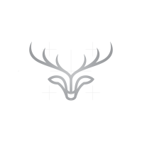 Silver Deer Head Logo