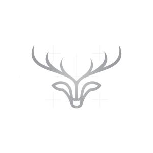 Silver Deer Head Logo