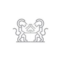 Silver Lions Logo Standing Lion Logo