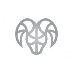 Silver Ram Head Logo