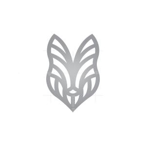 Silver Wolf Head Logo