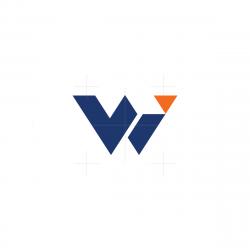 Stylish Letter WI Logo