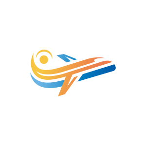 Sun Airplane Logo