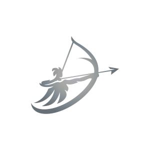 Swoosh Archer Logo Artemis Logo