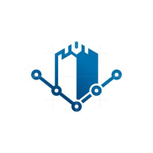 Technology Fort Logo Cyber Castle Logo