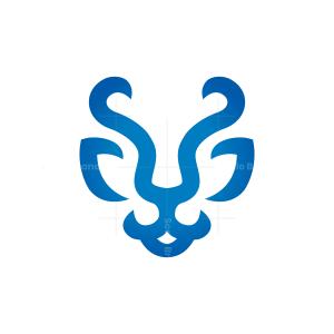 Blue Tiger Head Logo