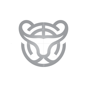Silver Tiger Head Logo Tiger Logo