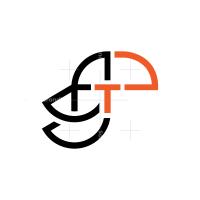 Letter T Toucan Logo