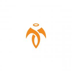 Abstract Angel Logo