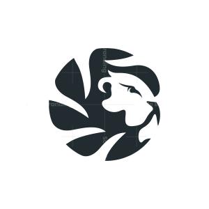 Circle Mane Lion Head Logo