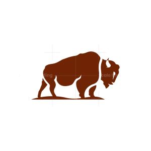 Brown Bison Logo Buffalo Logo