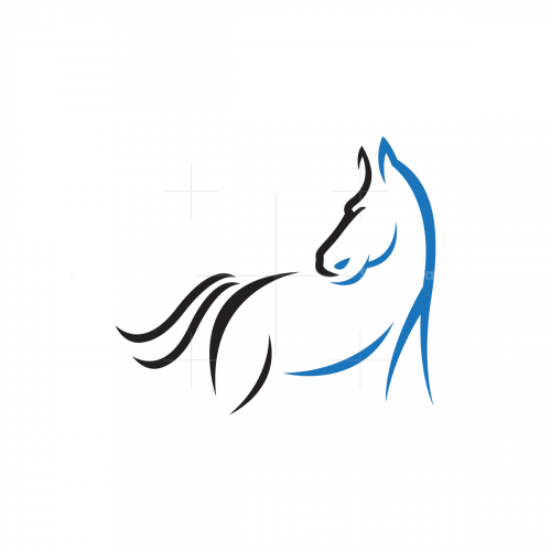 Lines Horse Logo