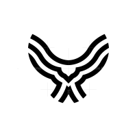 Black Flying Owl Logo