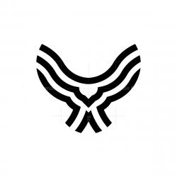 Black Flying Owl Logo
