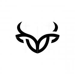 Black Bull Head Logo