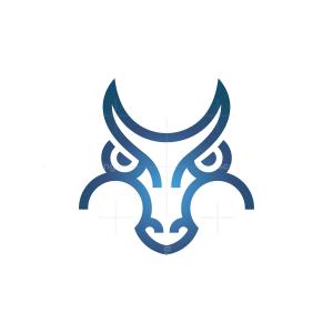 Blue Dragon Head Logo