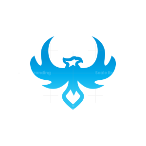 Blue Flying Eagle Logo Falcon Logo