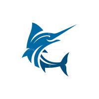 Marlin Swordfish Logo