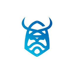 Blue Viking Head Logo