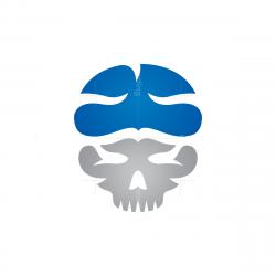 Skull Brain Logo