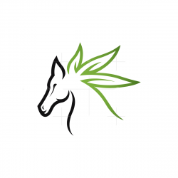Cannabis Horse Logo