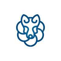 Circles Wolf Head Logo