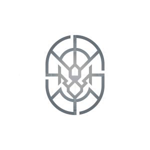 Emblem Silver Lion Logo
