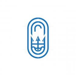 Emblem Trident Logo