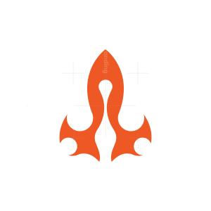 Flame Rocket Logo