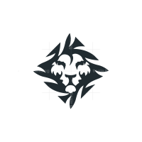 Nature Jungle Lion Logo Lino Head Logo