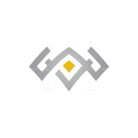 Glyph Bison Head Logo Buffalo Head Logo