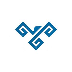Glyph Eagle Logo Falcon Logo