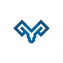Glyph Ram Head Logo