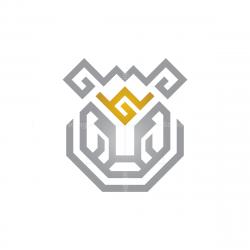 Glyph Silver Tiger Head Logo