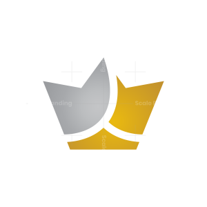 Gold And Silver Crown Logo Crown Logo