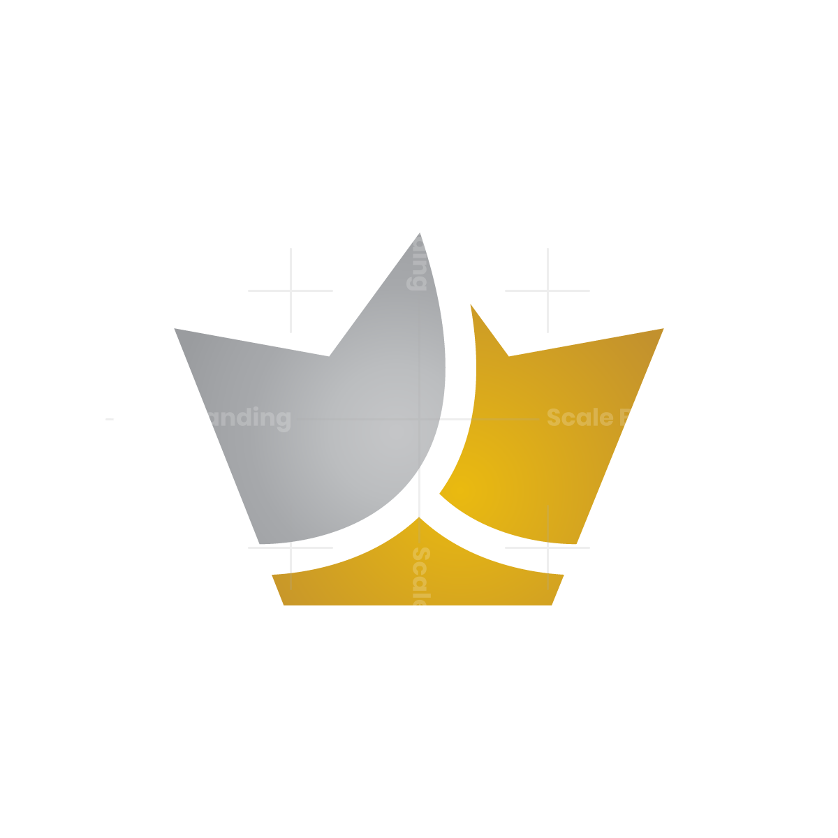 Gold And Silver Crown Logo