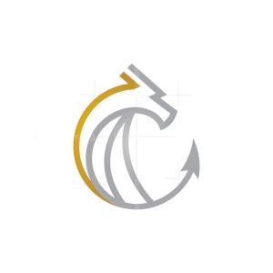 Gold Silver Dragon Logo