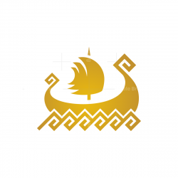 Golden Viking Ship
