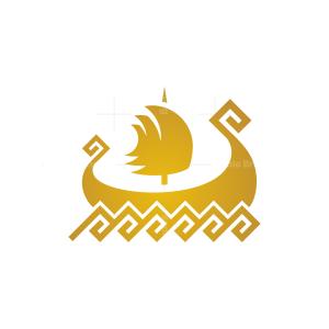 Golden Viking Ship