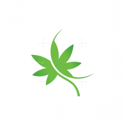 Green Cannabis Leaf Logo