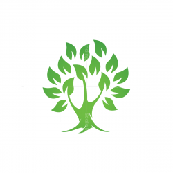 Green Leaves Tree Logo
