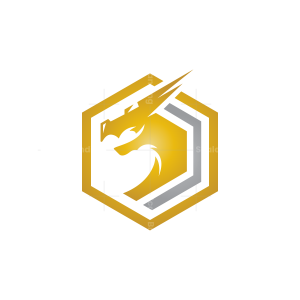 Hexagon Dragon Logo