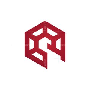 Hexagon Spartan Helmet Logo