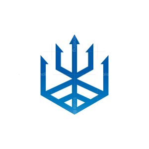 Hexagon Trident Logo