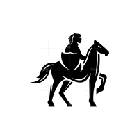 Knight Horseman Warrior Logo