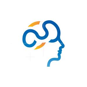 Human Brain Logo Head Logo