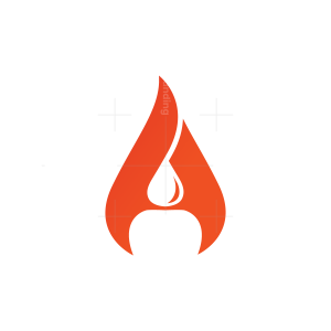 Letter A Flame Fire Logo