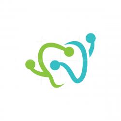 Letter D Dental Logo