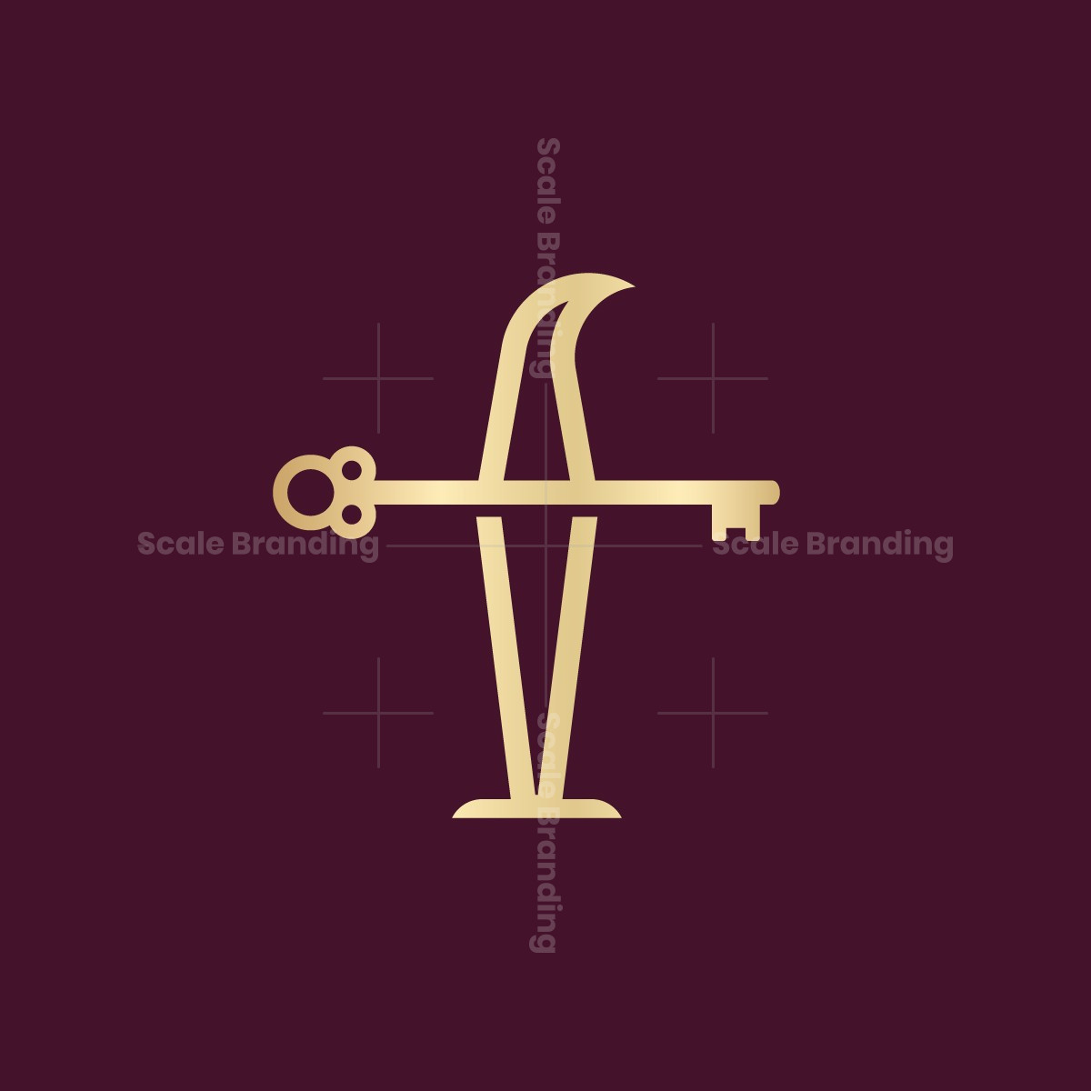 Letter F Key Logo